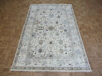 6 x 9'1 Hand Knotted Ivory Sultanabad Oushak Fine Oriental Rug Ushak G8366