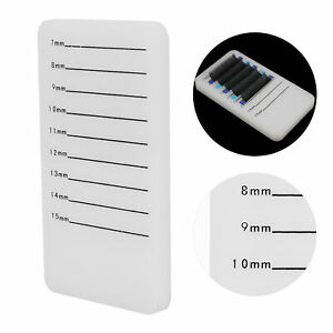 Clear Acrylic Fake Lash Glues Pallet Eyelash Extension Stand Holder Board Plate