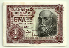 BILLETE DE 1 PESETA DE 1953 (MBC-) MARQUÉS DE SANTA CRUZ (SERIE S) MANCHITAS