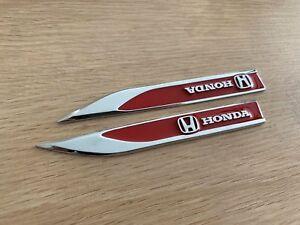 Red Metal Honda Side Badge Emblem Sticker for Honda Euro Accord Crv Hrv Civic