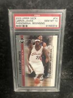 2003 Upper Deck Lebron James Rookie Phenomenal Beginning PSA 10