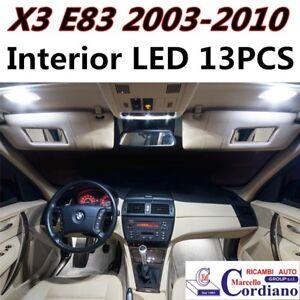 KIT LED INTERNI BMW X3 E83 CONVERSIONE COMPLETA 6000K ULTRABIANCO
