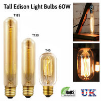 E27 Retro Vintage style Tall Edison Light Lamp Spiral Filament Lighting Bulbs