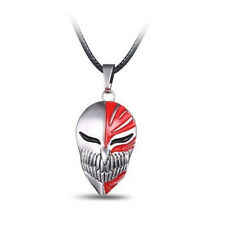 Anime Bleach Ichigo Kurosaki Mask Pendant Cosplay Necklace Metal Toy Gift