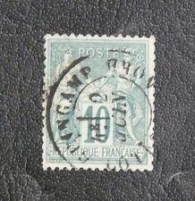 TIMBRES DE FRANCE : 1876/78 YVERT N° 76 - 10 CENTIMES VERT N SOUS U Oblitéré