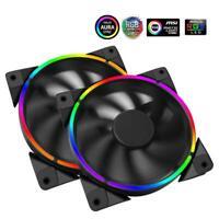 PCCOOLER 12cm RGB LED Light PC Cooling Fan 4 Pin Quiet PC Case Chassis Fan