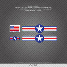0474 USA Separation Stripes Bands - Bicycle Decals Stickers