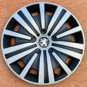 """Set of 4  silver 15"""" wheel trims to fit Peugeot 208"""