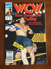WCW WORLD CHAMPIONSHIP WRESTLING # 2 VF MARVEL COMICS 1992 NEWSSTAND