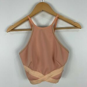 Bec and Brigde Womens Top Size 6 Peach Pink Sleeveless Zip Closure Cropped 70.27