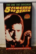 5 Fingers Of Death Rare & OOP Kung Fu Martial Arts Movie Steeplechase Video VHS