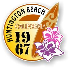 Retro tavola da surf Surf Huntington Beach California 1967 Auto Camper Van Adesivo