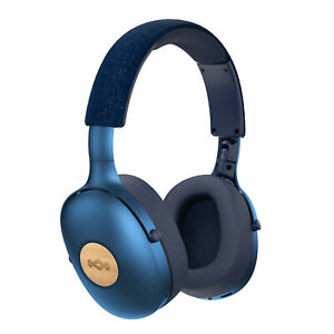 House of Marley Positive Vibration XL Wireless Over Ear Headphones Blue