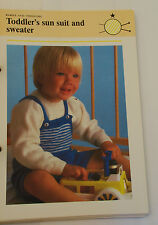 Knitting Pattern Phildar Luxe Baby Toddler Sun Suit and Sweater 53cm