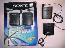 Sony WCS-999 Wireless microphone system for camcorder with an additional system
