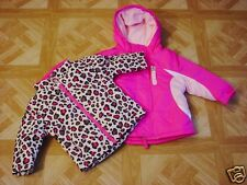 Healthtex Infant Girls 3 in 1 Pink Ski/Snowboard Jacket w/Removable Jacket 12 Mo