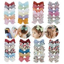 6PCS  Toddler Kids Children Baby Girls Cute Bow BB Hair Clip Cotton Hairpin