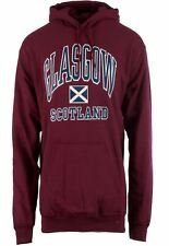 Children's Harvard Style Hooded Jumper With Glasgow Text In Maroon 3-4 Years