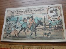 Victorian trade card from New Home Sewing Machine- Black family on mule