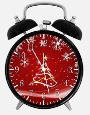 "Christmas Tree Alarm Desk Clock 3.75"" Home or Office Decor W66 Nice For Gift"