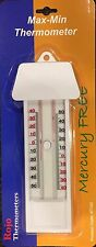 Traditional Max-Min Press Button Thermometer, MERCURY FREE. Suitable 4 Australia