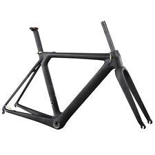Carbon Aero Frame 58 cm Road Bike Frameset BB86&Di2 UD Matte + Seat Post