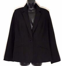 Chicos Womens Blazer black Grandeur jacket sz 1 career wear work M L New