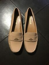 Coach Womens Odette Nude Color Leather Loafers Shoes Size 8:5
