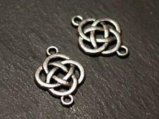 10pc - Connecteurs Perles Pendentifs Boucles d'oreilles Métal Argenté Noeuds Cel