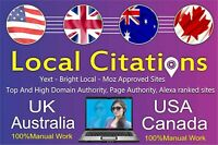Google SEO Your Business Citations in 30 USA TOP Local Directories manually