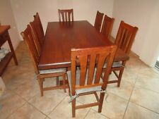 """NATIVA Interiors Hacienda dining table 86""""x44"""" with matching chairs"""