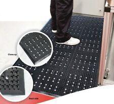 Black Square Pattern Anti Fatigue Drainage Mat - 1.5m x 0.9m - Bevelled Edge