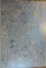 Greater Boston Ma Laminated Wall Map (K)
