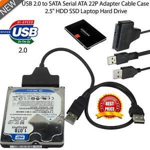 """SATA vers USB 2.0 2.5"""" HDD SSD disque dur Disque Converter Câble Adaptateur"""
