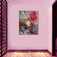 HOT Hand-painted Oil Paintings Modern Abstract Colorful Leaves Canvas Fashion