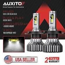 AUXITO H4 9003 LED Headlight Conversion Kit High Low Beam Bulb 6000K HID White D