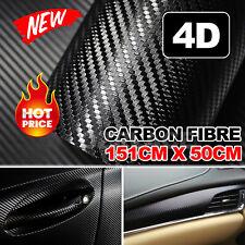 4D 1.51M x 50cm Gloss Black Carbon Fibre Fiber Vinyl Car Wrap Air Release Film