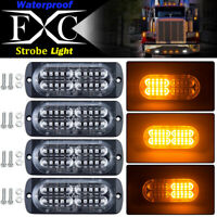 4X Amber 20 LED Car Truck Emergency Beacon Warning Hazard Flash Strobe Light Bar