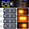 4X Amber 20 LED Car Truck Emergency Beacon Warning Hazard Flash Strobe Light Bar