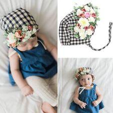 Headwear Photograph Props Baby Sun Hat Beanie Cap Floral Flower Plaid