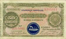 Mozambique P-55 50 centavos 1914 VF