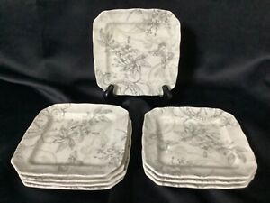 Set of 6~222 Fifth PTS International Love Poem  Dessert Plates (Fine China)