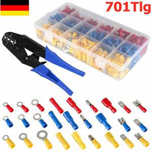 700X Kabelschuhe Sortiment Box Auto KFZ Steckverbinder Satz Flachstecker Set De