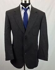 44L Barrington Mens 100% Tweed Wool Dark Brown Patch Pocket Blazer Sport Coat