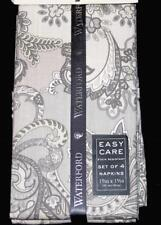 """New listing 4 Waterford Thatcher Silver Grey 19""""x19"""" Linen Look Stain Resistant Napkins Nip"""