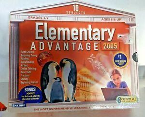 New Sealed Elementary Advantage 2005 8 CD-Rom Set Learn10 Subjects Grades 3-5  1