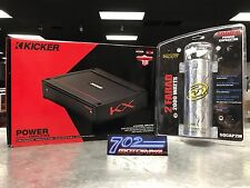KICKER KXA400.4 400-WATT 4-CHANNEL CLASS D CAR AUDIO AMPLIFIER + 2 FARAD CAP