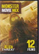 MONSTER MOVIE MIX - ALIEN THREAT/DEADLY ATTACK (12 FILM DVD) (W3)