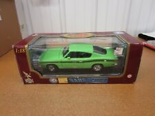 1:18 scale 1969 Plymouth Barracuda Yat Ming Road Signature diecast green