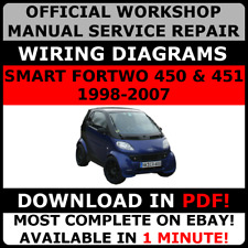# OFFICIAL WORKSHOP Repair MANUAL for SMART FORTWO 450 & 451 1998-2007 WIRING#